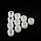 60 ° LED Lamp Beads Waterproof Lens - White + Transparent (10 PCS)