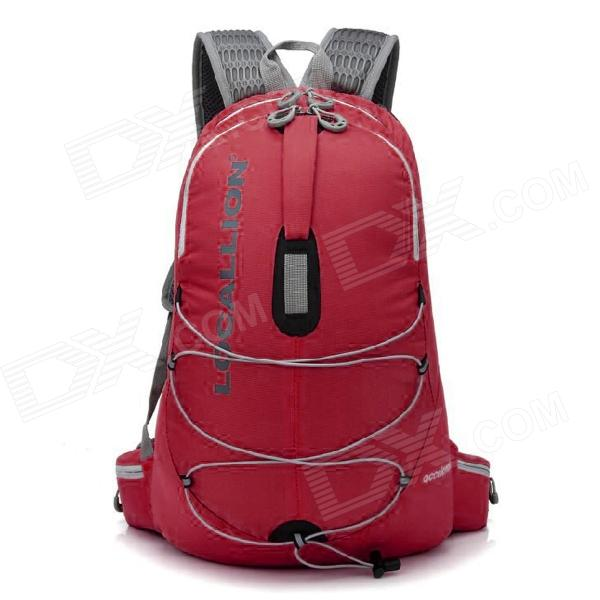 Locallion WH023 Multi-Functional Outdoor Nylon Backpack - Red (25L) locallion h 012 outdoor sports multifunction nylon backpack bag army green