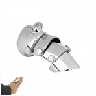 Stylish Zinc Alloy Armor Full Finger Ring - Silver