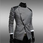Monseden JK19 British Style Fashionable Slim Fit Suit - Gray (Size-XXL)
