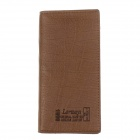 Lorways 306# Long Style PU Leather Men's Wallet - Yellowish Brown