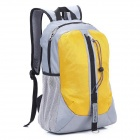 Locallion H-011 Multi-Funktions-Outdoor-Berg Nylon-Rucksack - Grau + Gelb (25L)