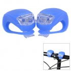 FJQXZ Outdoor Cycling 3-Mode 2-LED Cold White Bike Lamps - Sapphire Blue (4 x CR2032)