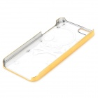 Skull Pattern Protective ABS Back Case for Iphone 5 / Iphone 5S - Golden + Transparent
