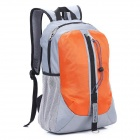 Locallion H-011 Multi-Functional Outdoor Mountain Nylon Backpack - Grey + Orange (25L)