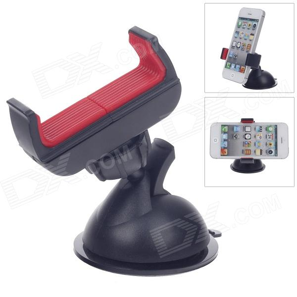 S012 Universal 360 Degree Rotation Car Holder Bracket for Mobile / PDA / GPS /PSP / MP4 - Black +Red baseus car phone holder black