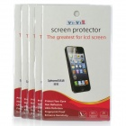 YI-YI Clear PET Screen Protectors w/ Cleaning Cloth for Iphone 5 / 5s - Transparent (5 PCS)