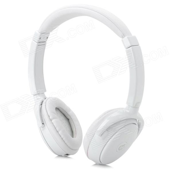 Syllable G01-002 Fashion Bluetooth v3.0 Music Headphones w/ Microphone - White