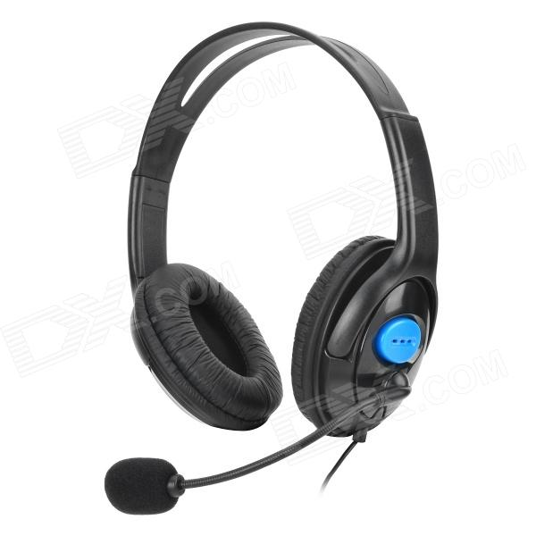 Gaming Headset Headphones w/ Microphone / Voice Control for PS4 - Black (3.5mm Plug / 110cm-Cable)