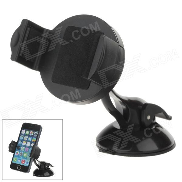 H60 + C46 360 Degree Rotation Universal Holder Mount Bracket w/ Suction Cup - Black