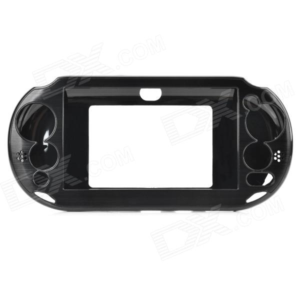 Protective Plastic + Aluminum Case for PS Vita 2000 - Black