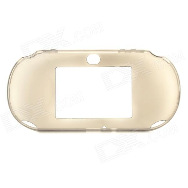 Protective TPU Soft Back Case for PS Vita 2000 - Translucent Black