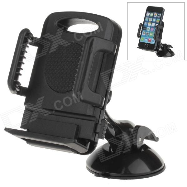 H60 + C66 360 Degree Rotation Universal Holder Mount Bracket w/ Suction Cup - Black