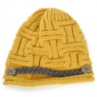 MXM-01A Warm Ear-Protection Winter Women's Woolen Hat - Yellow