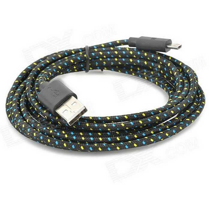 USB 2.0 Data / Charging Cable for Google Nexus 7 II / Nexus 7 - Yellow + Black (180cm)