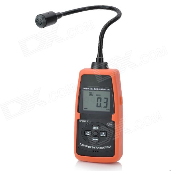 SPD202/Ex Digital Combustible Gas Detector Meter TesterTesters &amp; Detectors<br>Form ColorDeep Grey + OrangeBrandN/AModelSPD202/ExQuantity1 DX.PCM.Model.AttributeModel.UnitMaterialABS plasticDetection Range0~100%LEL 5050000ppmScreen Size2.3 DX.PCM.Model.AttributeModel.UnitBattery Number4Powered ByAA BatteryBattery included or notYesOther FeaturesResolution: 0.1%LEL 10ppm; Error: ,/= 5%; Response time: 10s; Working temperature: -10~60C; Working humidity: CertificationCE, ROHSPacking List1 x Detector1 x English manual4 x AA 1.5V batteries<br>