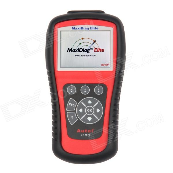 Autel MaxiDiag Elite MD802 4 System Scanner Tool - Red + Black free shipping original autel autolink al519 obd ii and can scanner tool obd2 code scanner