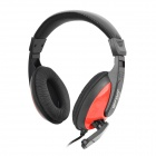 Gorsun GS-M688 Fashionable Headset Headphones w/ Microphone - Black + Red (3.5mm Plug / 210cm-Cable)
