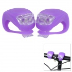 FJQXZ Outdoor Cycling 3-Mode 2-LED Cool White Bike Lamps - Purple (4 x CR2032)