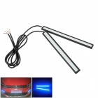 Waterproof 5W 200lm LED Blue Car Daytime Running Light Strip - (12V / 17cm / 2 PCS)