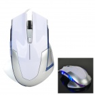 VMO-101 Classic 6-key 4-mode USB 2.0 Wired Game Mouse w/ Colorful LED Light - White + Silver Grey