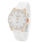 BARIHO F231 Fashion Women's Analog Quartz Wrist Watch - White + Rose Golden (1 x 626)