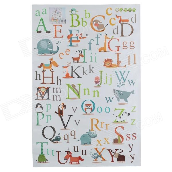 AY877 Cute Cartoon Alphabet Sticker for Baby's Room - White + Yellow