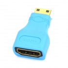 Mini HDMI Male to HDMI Female Adapter - Blue