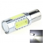 1156 / BA15S / P21W 11W 400lm 4-COB + 1-LED White Car Steering Light / Backup Light - (12~24V)