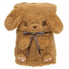 Cute Little Bear Style Dual-use Ultra-soft Plush Blanket Pillow  - Brown