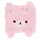 Cute Little Bear Style Dual-use Ultra-soft Plush Blanket Pillow - Pink