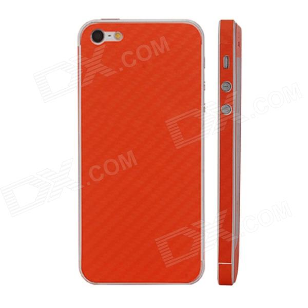 Elonbo F91C Decorative Protective Carbon Fiber Cover Skin Stickers Set for Iphone 5 - Orange nidhi gondaliya and sweta patel methicilin resistance staphylococcus aureus skin