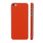 Elonbo F91C Decorative Protective Carbon Fiber Cover Skin Stickers Set for Iphone 5 - Orange