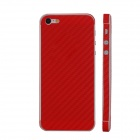 Elonbo F91R Decorative Protective Carbon Fiber Cover Skin Stickers Set for Iphone 5 - Red