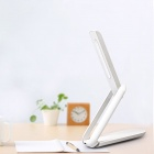 Escritorio USB recargable 5W 6000K plegable portable 12 LED lámpara de mesa de luz w / Switch Touch - Blanco