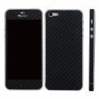 Elonbo F91B Decorative Protective Carbon Fiber Cover Skin Stickers Set for Iphone 5 - Black