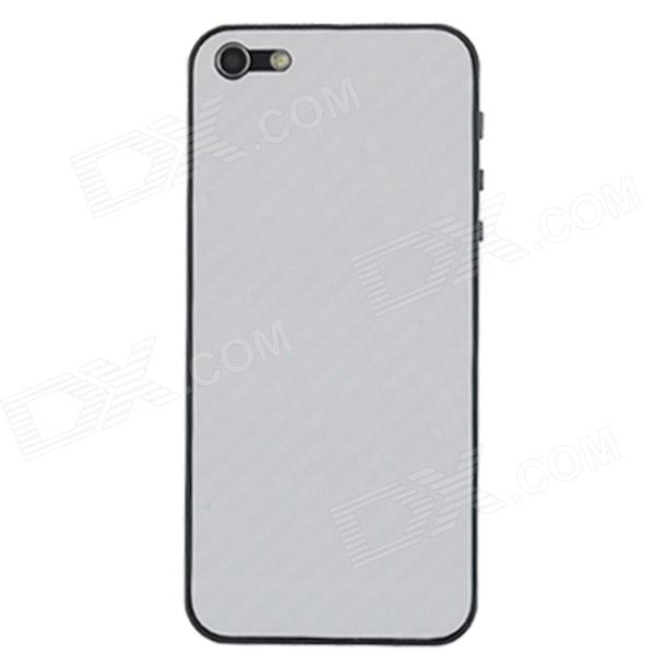 Elonbo F91W Decorative Protective Carbon Fiber Cover Skin Stickers Set for Iphone 5 - White