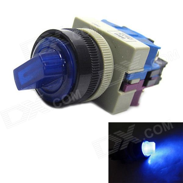 Jtron DIY Car Rotation Switch with Blue LED Indicator - Black + Deep Blue (12V)