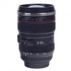Creative Stainless Steel Simulation Zoom Lens Thermos Mug Cup w /Blue Lens Cup Lid - Black (400mL)