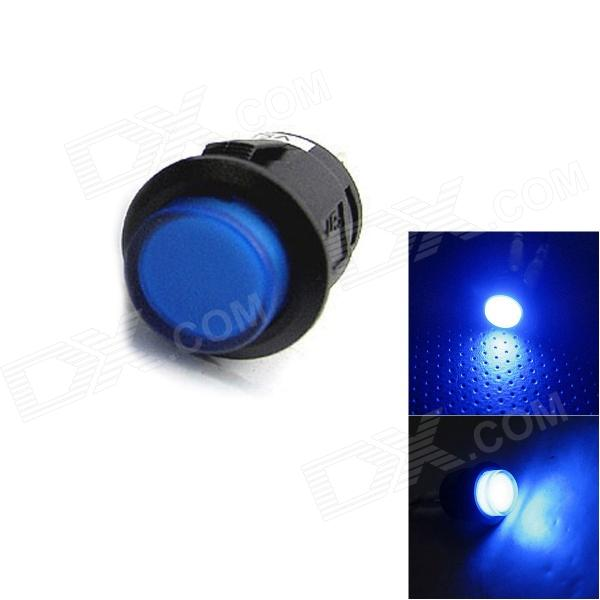 Jtron 04010015 Car Button Switch with LED Blue Light - Black + Blue (12V)