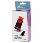 Car Steering Wheel Mobile Scaffold Holder Bracket - Black + Red