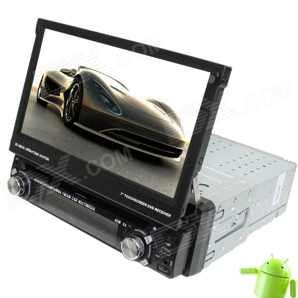 LsqSTAR Universal 7 1 Din Android 4.0 Car DVD Player w/ GPS, TV, RDS, BT, PIP, SWC, 3DUI, Dual Zone автомобильный dvd плеер joyous kd 7 800 480 2 din 4 4 gps navi toyota rav4 4 4 dvd dual core rds wifi 3g