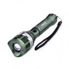 BORUiT Z13 CREE XM-L T6 5-Mode 600lm Zooming Flashlight w/ Strap - Green (1 x 18650)