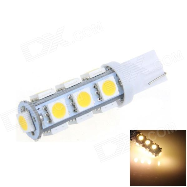 T10 / W5W 2.5W 250lm 13 x SMD 5050 LED Warm White Car Side Light / Clearance / Reading lamp - (12V) carprie super drop ship new 2 x canbus error free white t10 5 smd 5050 w5w 194 16 interior led bulbs mar713