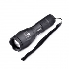 BORUiT Z8 LED 5-Mode 600lm Zooming Flashlight - Black (1 x 18650 / 3 x AAA)