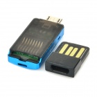 KINGMAX KOTGR-01 Micro USB MicroSD / TF Card Reader w/ USB 2.0 Adapter - Black + Blue (Max. 64GB)
