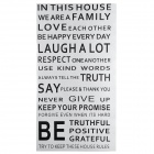Family House Rules Wall Sticker for Home - Black
