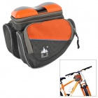 SHANFU TB-11 Cycling Bike Top Tube Bag / MP3 Speaker w/ TF - Dark Grey + Orange