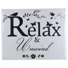 """Relax"" Simple Stylish Wall Sticker - Black (75.7 x 60cm)"