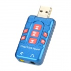 DGW Y-X3 USB 2.0 Virtual 7.1-CH Sound Card Adapter - Deep Blue + Red
